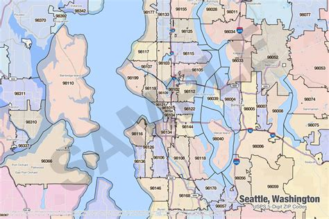 seattle map with zip codes search the maptechnica printable map catalog maptechnica
