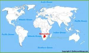 on world map botswana location on the world map