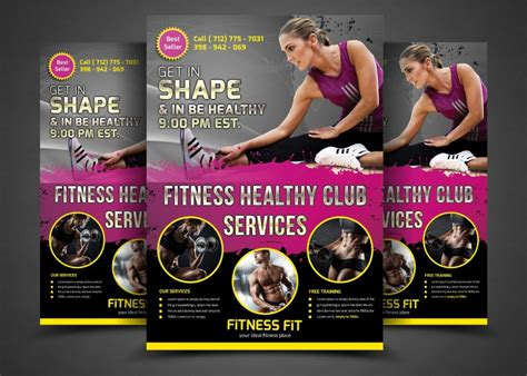 template flyer gym 20 fitness flyer template psd for fitness center gym and