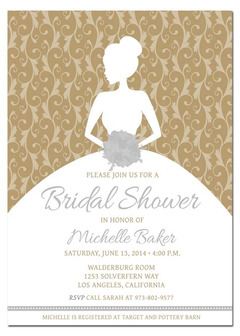 bridal shower card template diy wedding shower invitations diy bridal shower