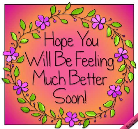 Feeling Better Cards feel better ecard