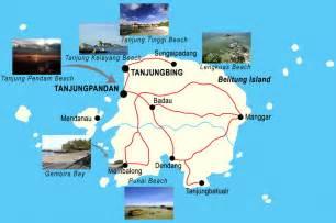 Peta Wisata Provinsi Kepulauan Bangka Belitung Kota Pangkalpinan H1051 daya tarik wisata di tanjung kelayang dan sekitarnya
