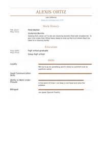 Field Worker Sle Resume by Field Worker Resume Sles Visualcv Resume Sles Database
