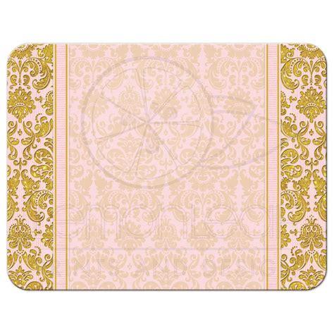 Pink Gold blush pink gold damask wedding rsvp reply card