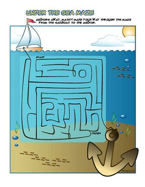 printable beach maze printable summer games under the sea printable maze
