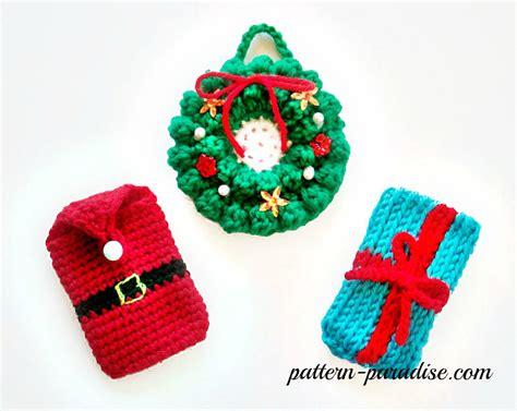 Crochet Christmas Gift Card Holder - free crochet pattern money gift card holders pattern paradise