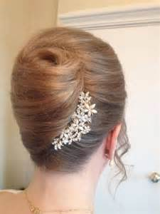 wedding french roll hairstyle