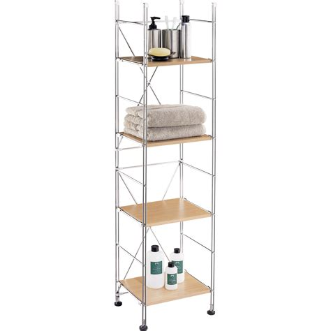 bathroom tower shelf manhattan 4 shelf towel tower by neu home in bathroom shelves