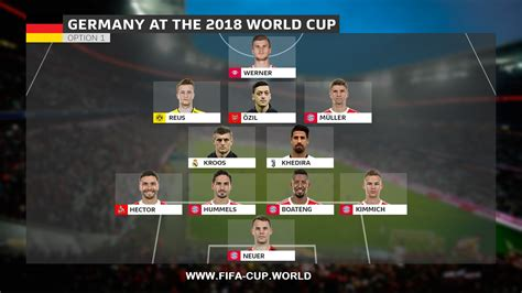 fifa world cup 2018 2018 fifa world cup germany team squad