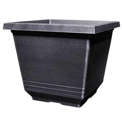 12 in torino square silver plastic planter sd333h si