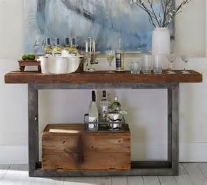 pottery barn console tables griffin reclaimed wood console table pottery barn