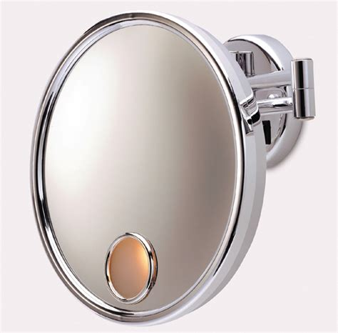 bathroom mirrors with lights attached bathroom wall mounted lighted makeup mirror design ideas