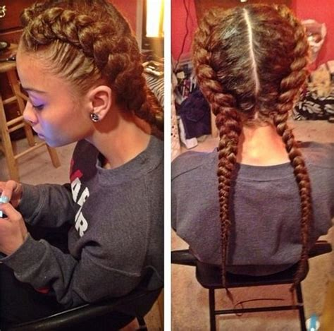 French Braided Weave | i love these two french braids mixed creation