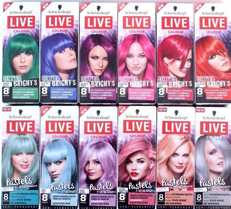 color live schwarzkoft live colour ultra brights temporary hair dye