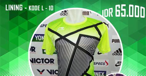 Baju Kaos Olah Raga Victor V203 Baju Pakaian Olah Raga Go Import baju kaos kostum seragam pakaian bulutangkis badminton lining l10 baju bulutangkis badminton