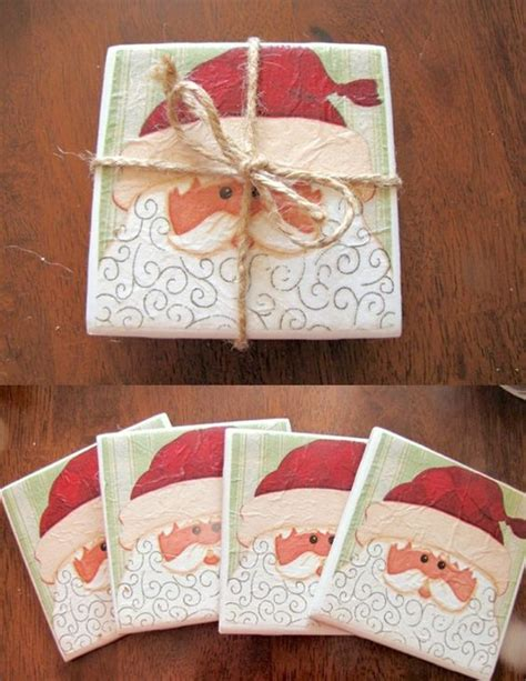 tile coasters hostess gifts and christmas crafts on pinterest