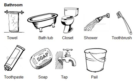 Sapu Pengki Hello kosakata things in the bathroom beserta contoh kalimat