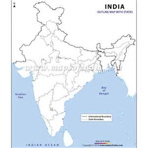 Rivers Of India Map Outline by India Outline Map