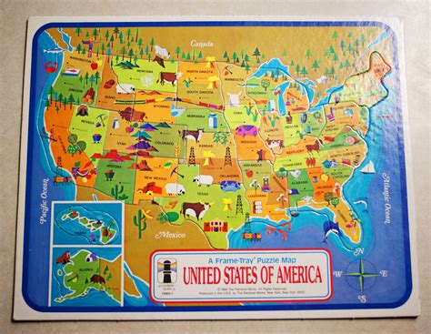 united states map puzzle vintage 1968 united states of america map puzzle