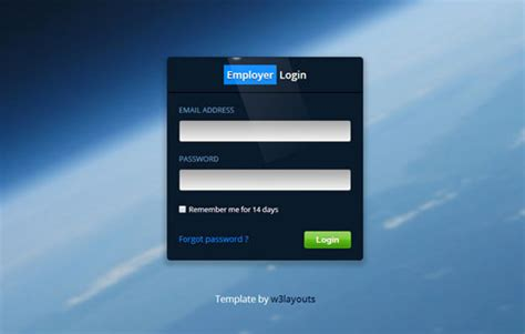 The 25 Best Free Login Form Templates Smashing Buzz Website Template With Login System