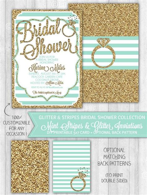 and mint bridal shower invites mint bridal shower invitation mint gold glitter bridal shower invitation teal turquoise