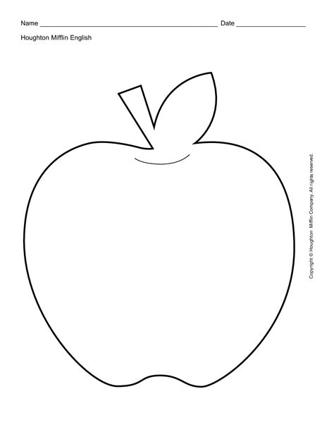 6 best images of free printable apple template free