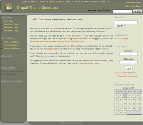 theme generator com drupal theme generator version 4 features and