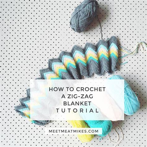 zig zag crochet pattern video tutorial how to crochet a zali zig zag chevron blanket