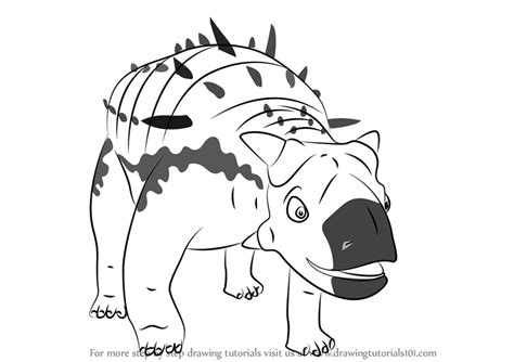 euoplocephalus coloring page image gallery euoplocephalus drawing