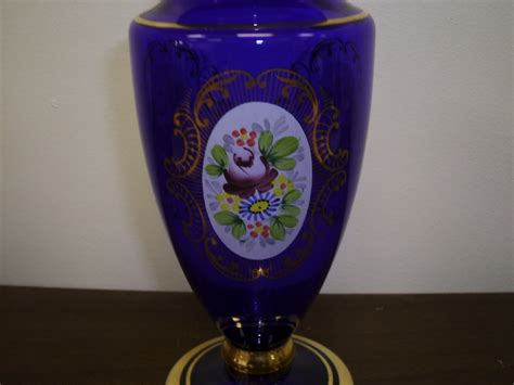 Bohemia Vase Price by Bohemia Cobalt Blue Czechoslavakia Crystalex Flowered