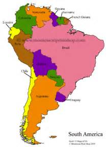 south american maps blank colored labeled maps