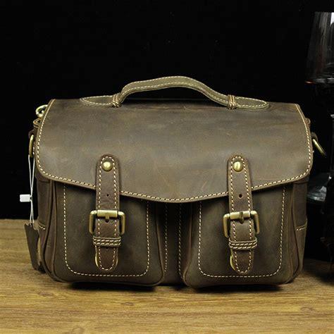 vintage corium bag for canon sony nikon shoulder bag cow leather messenger bag handbag