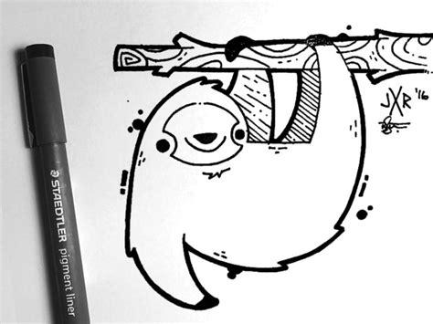 doodle sloth sloth ink 나무늘보 강좌 및 그림