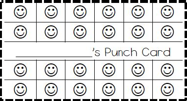 student punch card template behavior classroom behavior ticket template also made elephant