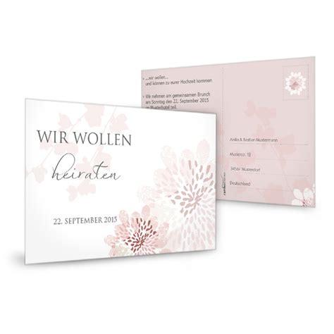 Hochzeitseinladungen Altrosa by Antwortkarte Mit Floralem Muster In Altrosa