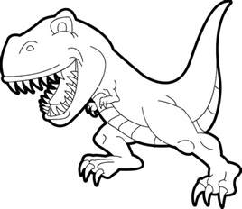 color page print simple t rex coloring pages