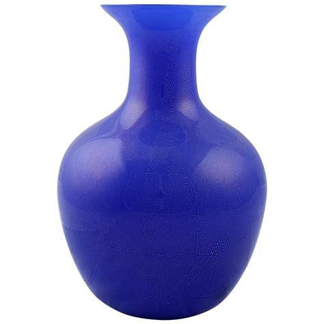 large vetri murano salviati and co blue italian glass