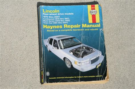 manual repair autos 1993 lincoln continental electronic toll collection find haynes repair manual lincoln rear wheel drive 1970 2001 continental town car motorcycle in
