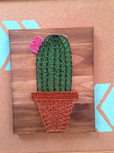 artistic home decor cactus string cacti mini succulent wall home decor