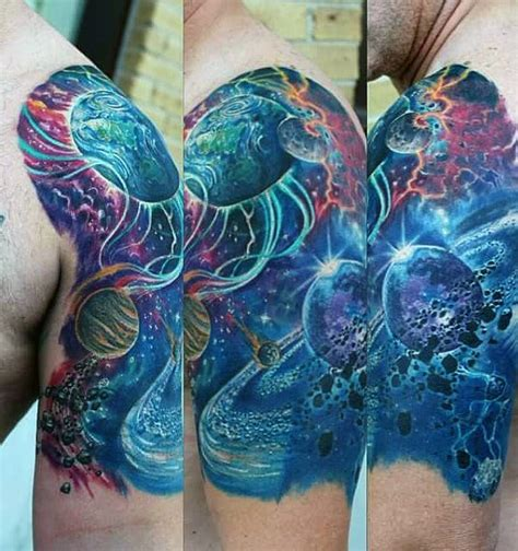 70 outer space tattoos for men galaxy and constellations