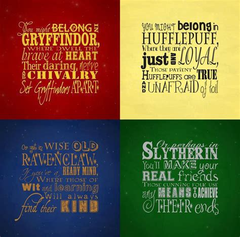 characteristics of harry potter houses hogwarts quotes quotesgram