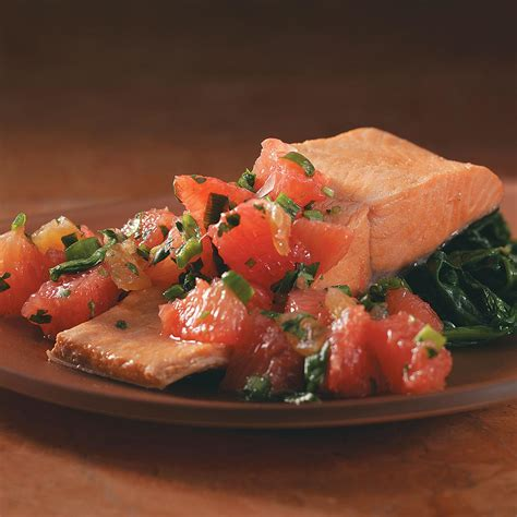 poached salmon poached salmon with grapefruit salsa recipe taste of home