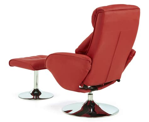 red reclining chairs farris red faux leather recliner chair just armchairs