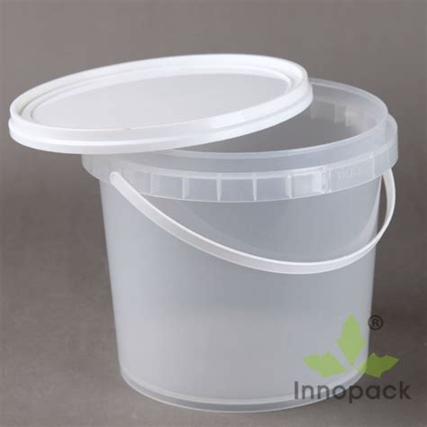 Ember Pail 1 25 Gallons 5l transparent and clear plastic with lid buy