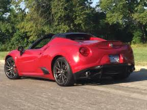 2015 Alfa Romeo 4c Spider Notes From The Driveway 2015 Alfa Romeo 4c Spider