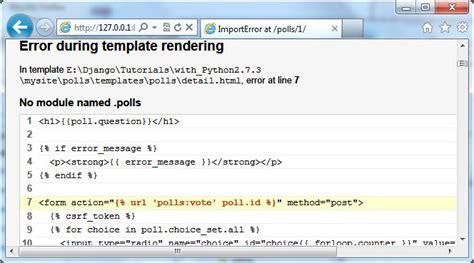 django tutorial stackoverflow django tutorial error no module named polls after