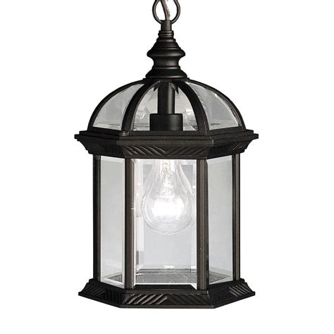 kichler pendant lighting kitchen shop kichler new street 13 5 in black outdoor pendant