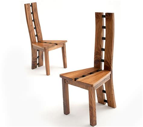 Rustic Modern Dining Chairs Contemporary Chair Modern Side Chair Modern Wooden Dining Chair Sustainable Woods