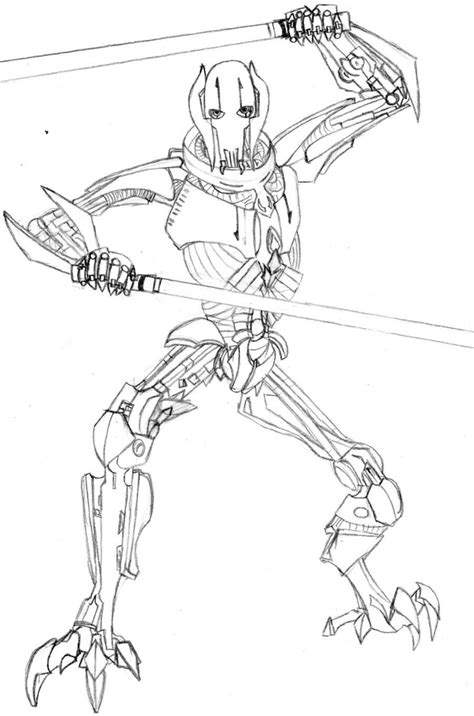 general grievous coloring page az coloring pages