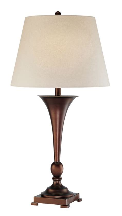 bronze buffet ls lite source ls 21634 copper bronze 1 light table l with linen fabric shade from the hamza